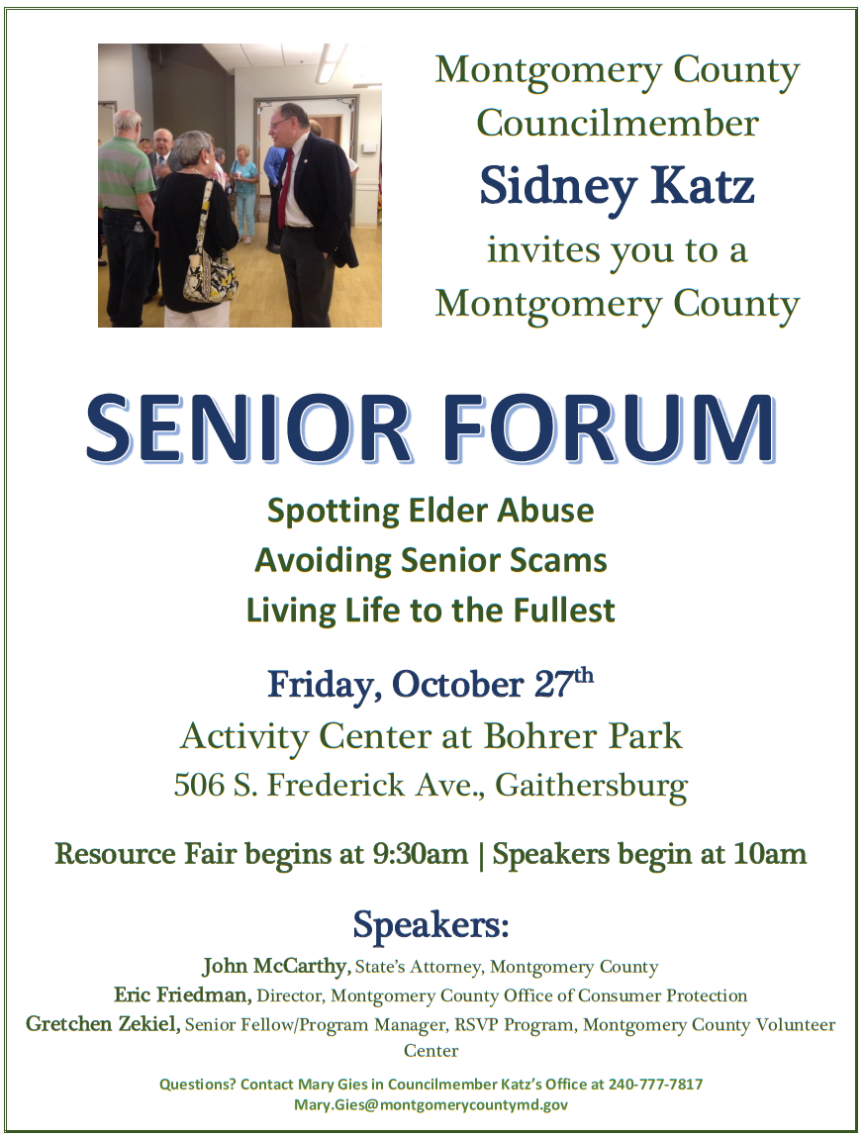 senior forum flyer